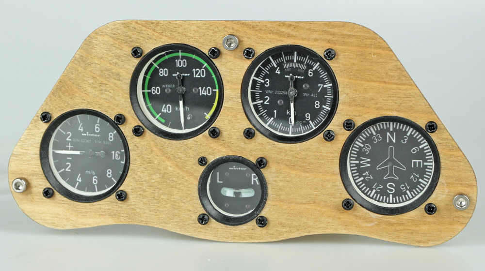 Scale Cockpit Panel for Large Scale Glider