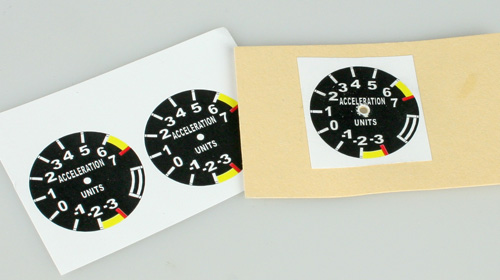 Printed dials for Scale Instruments
