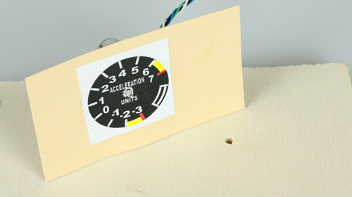 Printed scale dials for RC model
